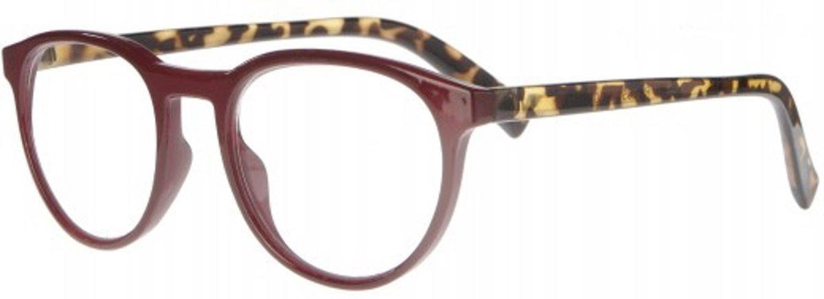 Icon Eyewear RCE350 Figo Leesbril +1.50 - Bordeaux montuur, tortoise pootjes kopen