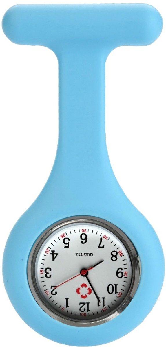 Fako Bijoux® - Verpleegstershorloge - Siliconen RVS Uni - Babyblauw kopen