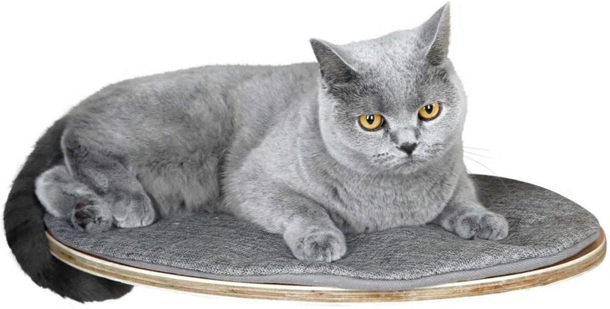 Kerbl Wandgemonteerd kattenbed Tofana 35x50 cm grijs 81543