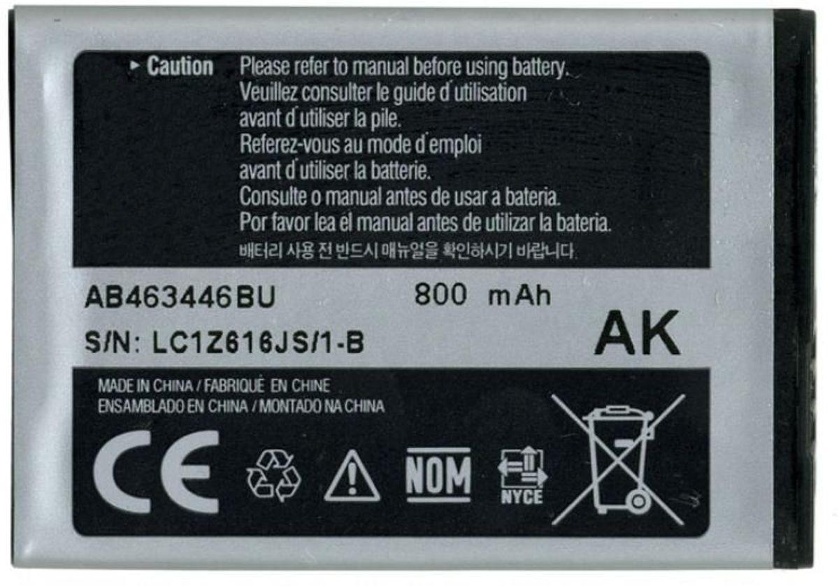 Samsung Accu AB463446BU (o.a. C3520,C5010,E1120,E1150,E1190,E1230,E2232,S3030,S3100 en S5150) kopen