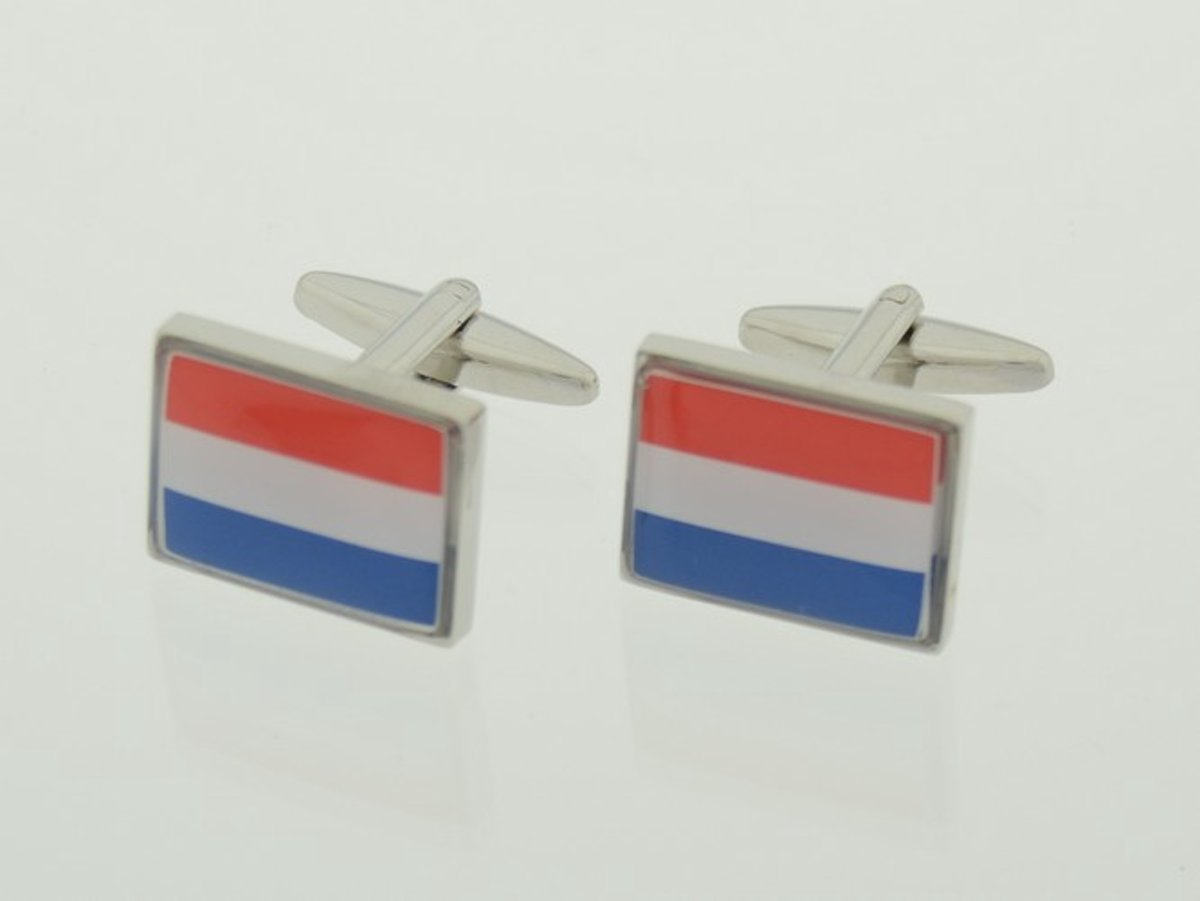 Treasure Trove® Nederlandse Vlag Manchetknopen - Rechthoekig kopen