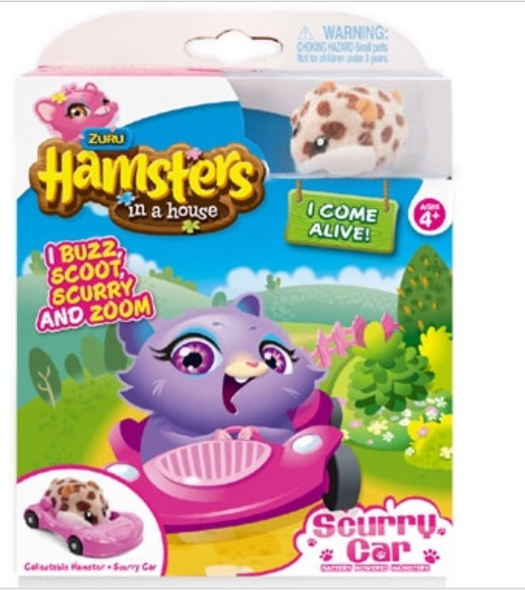 Hamsters in a house + Scurry Car