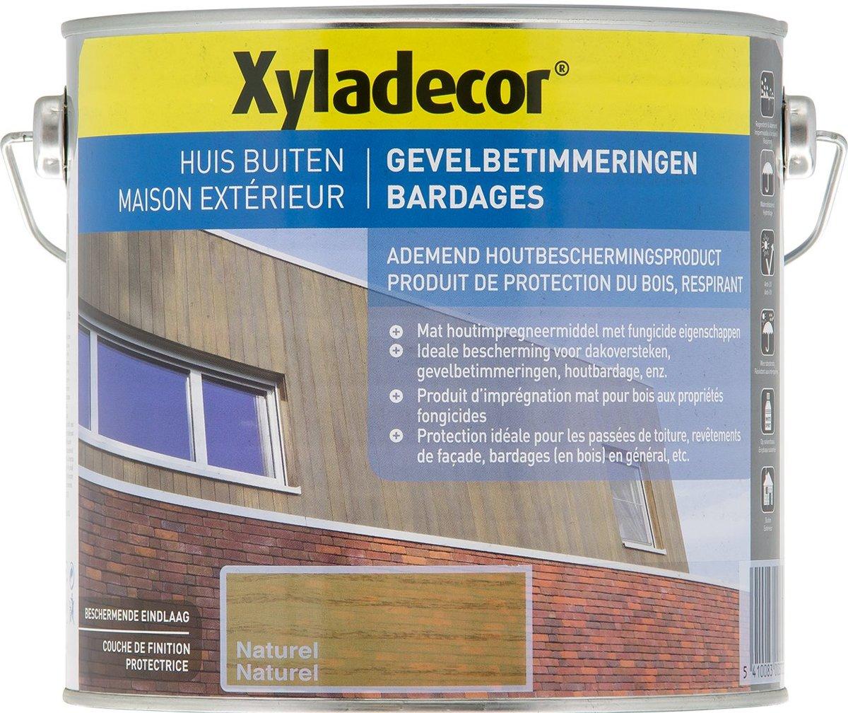 Xyladecor Gevelbetimmeringen - Houtbescherming - Naturel - 2,5L