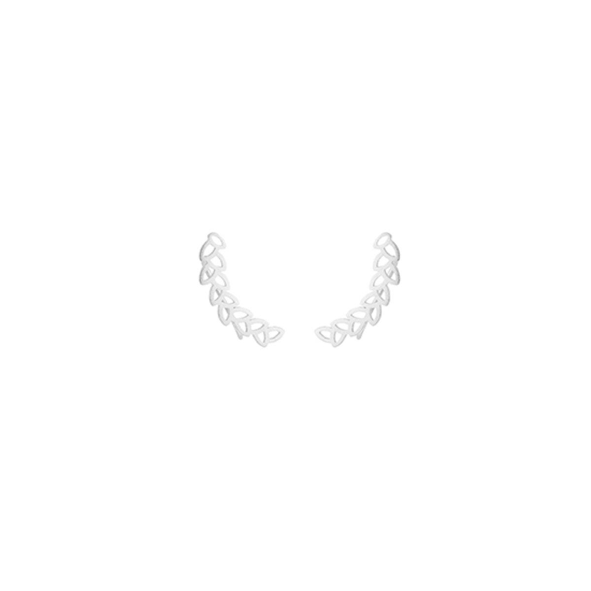24/7 Jewelry Collection Blad Manchet Oorbellen - Oorklimmer - Zilverkleurig kopen