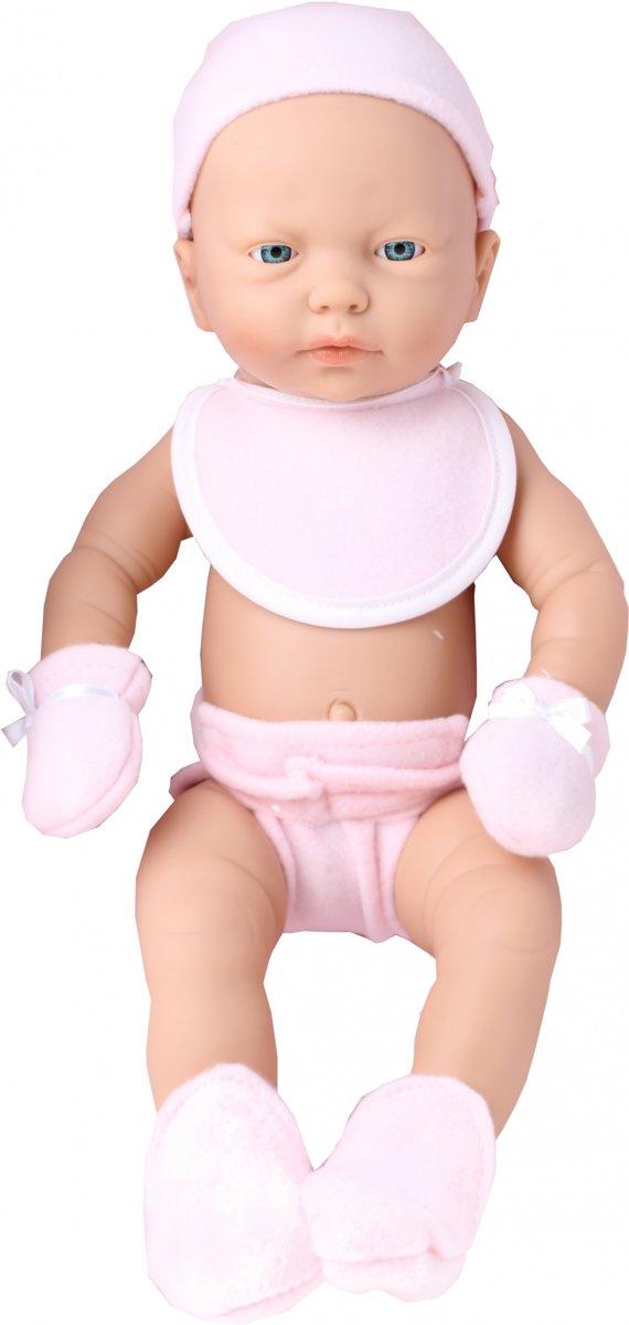 Falca Babypop Met Kinderdeken 40 Cm Roze