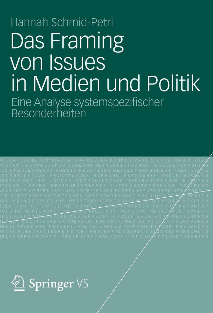 bol.com | Das Framing von Issues in Medien und Politik (ebook ...