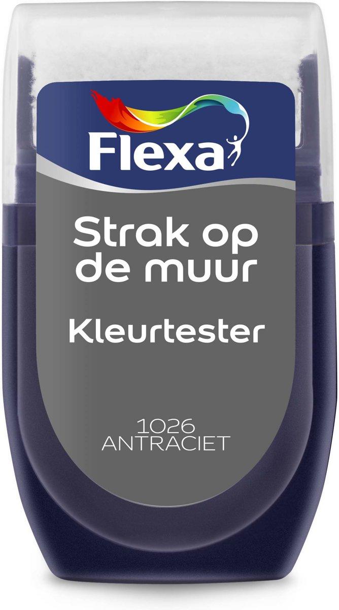 Flexa Strak op de Muur Muurverf Tester 1026 Antraciet 30 ML kopen