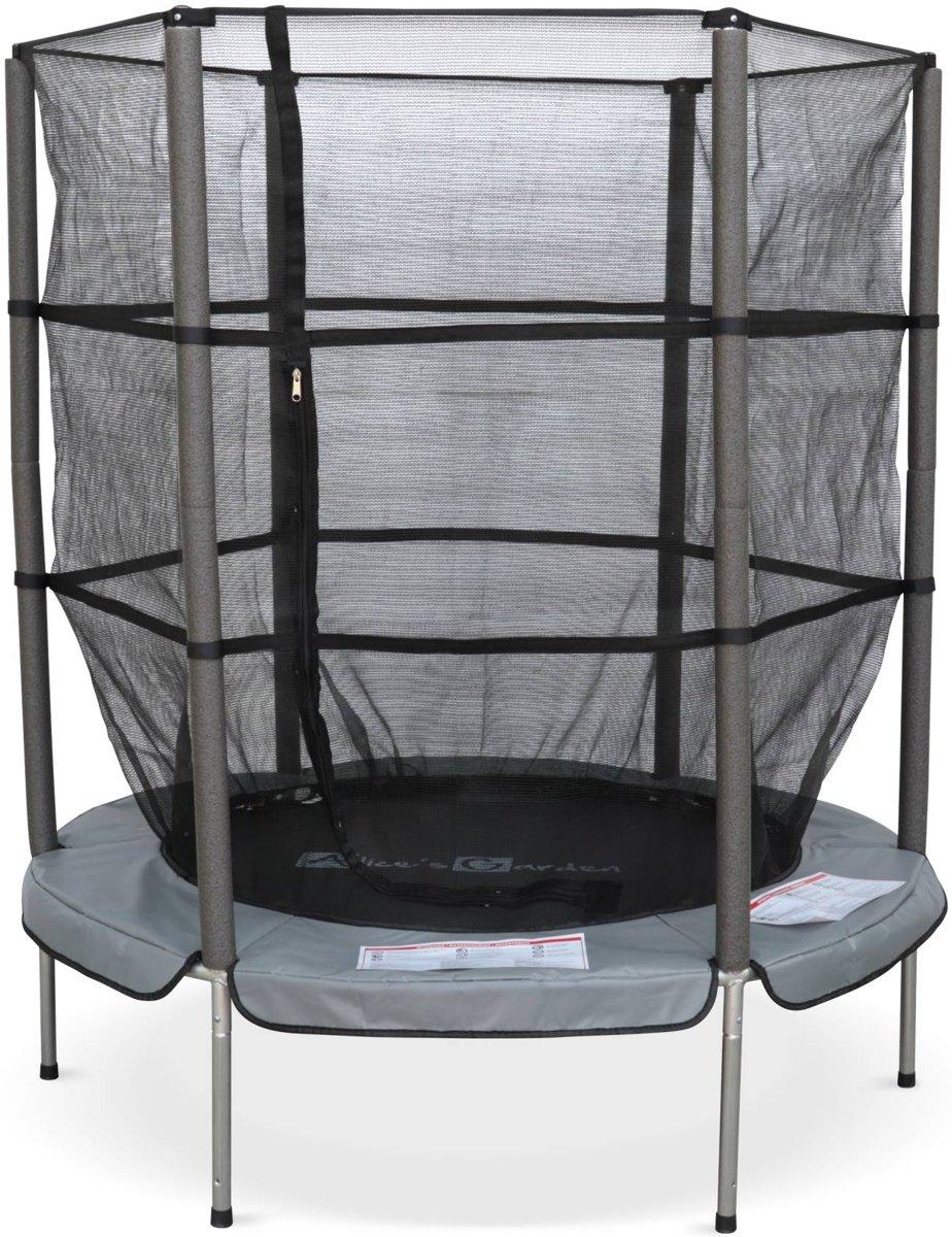 Trampoline rond Ø 140cm - Callisto -  Veiligheidsnet en echte veren, kleine trampoline 1,40m voor binnen of buiten