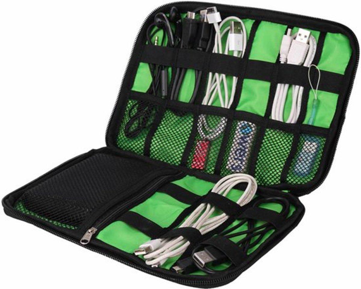 Tasorganizer Voor Kabels - Kabel organizer - Kabeltas voor op reis - Zwart kopen