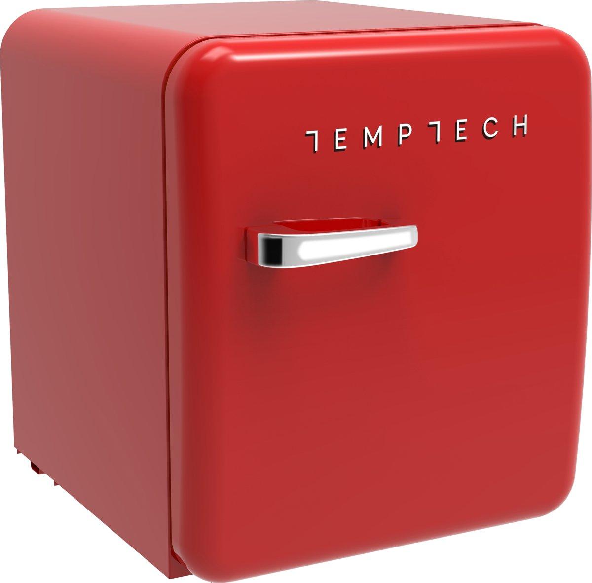 Temptech HRF46RR - mini koelkast - 26 liter - rood kopen