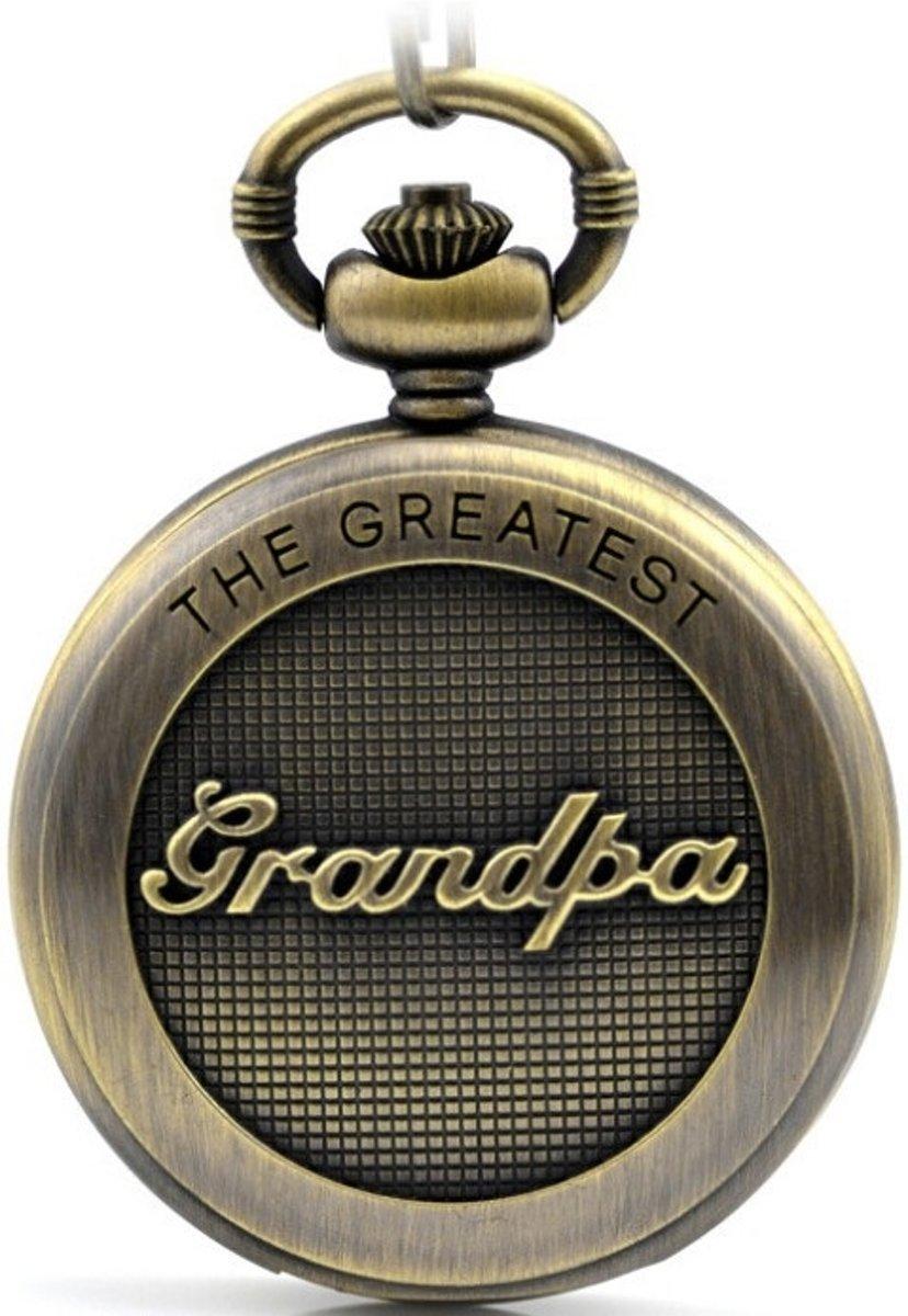 Zakhorloge - GRANDPA  - brons met ketting #4 kopen