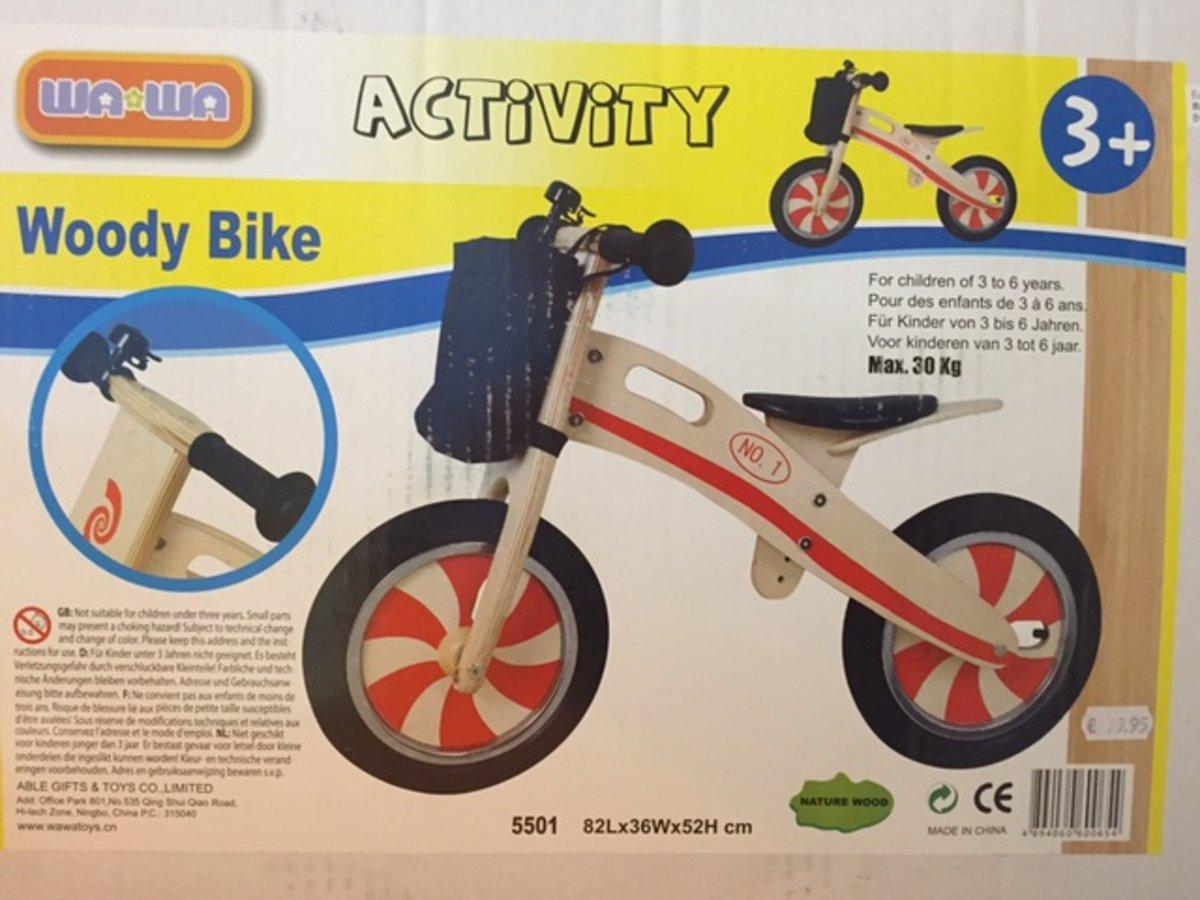 Wa Wa Activity Woody Bike - Houten loopfiets