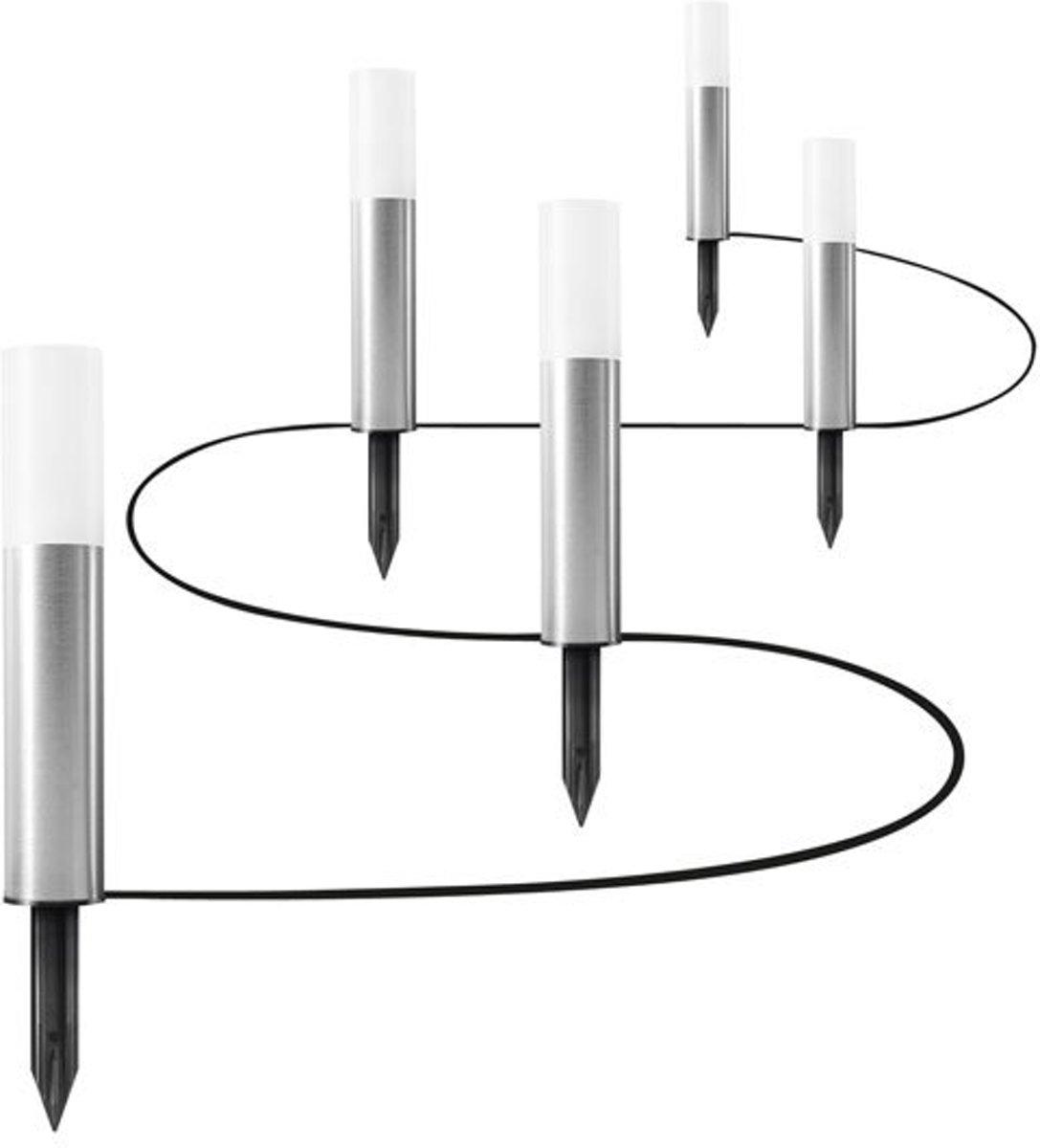 Ledvance 5x LED grondspies zilver 5.5W Endura Garden Pole kopen
