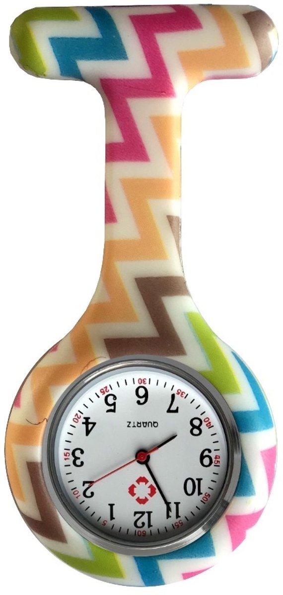 Fako Bijoux® - Verpleegstershorloge - Siliconen RVS Print - Wacky kopen