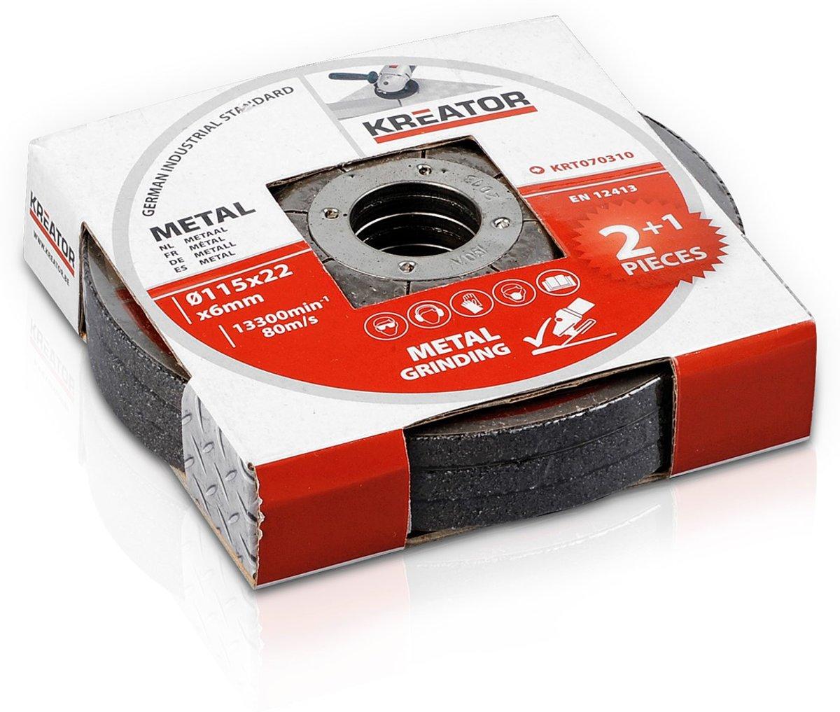 Kreator KRT070310 Afbraamschijf voor metaal - Ø115 mm – 3 stuks kopen