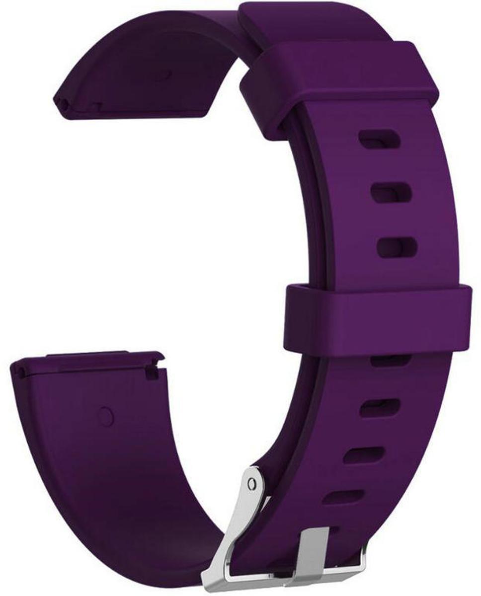 Siliconen armband bandtje polsband voor Fitbit Versa - Kleur - Paars, Maat - L (Large) kopen