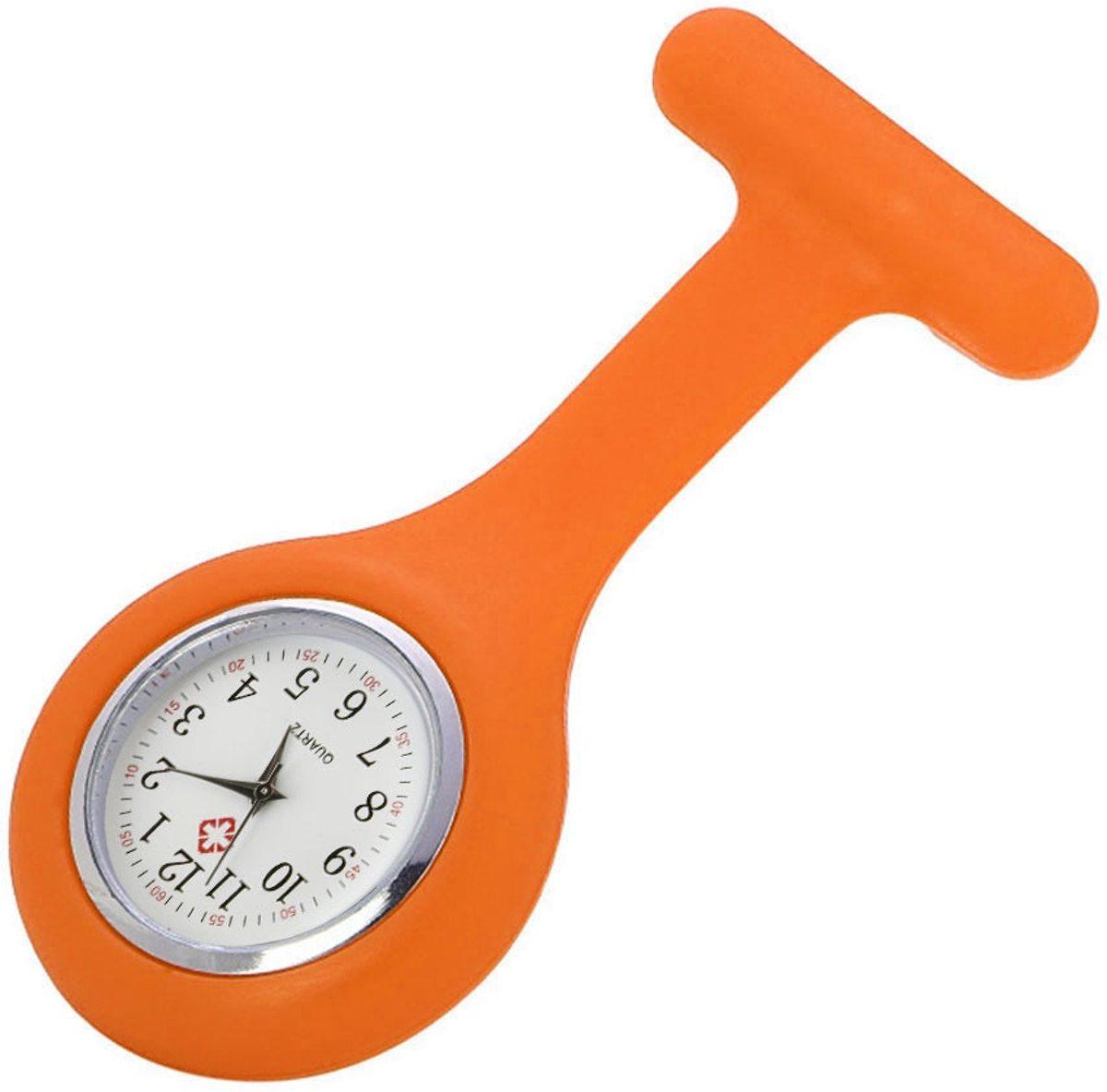 Verpleegster horloge - Verpleegsterhorloge - Nurse Watch - siliconen - Oranje kopen