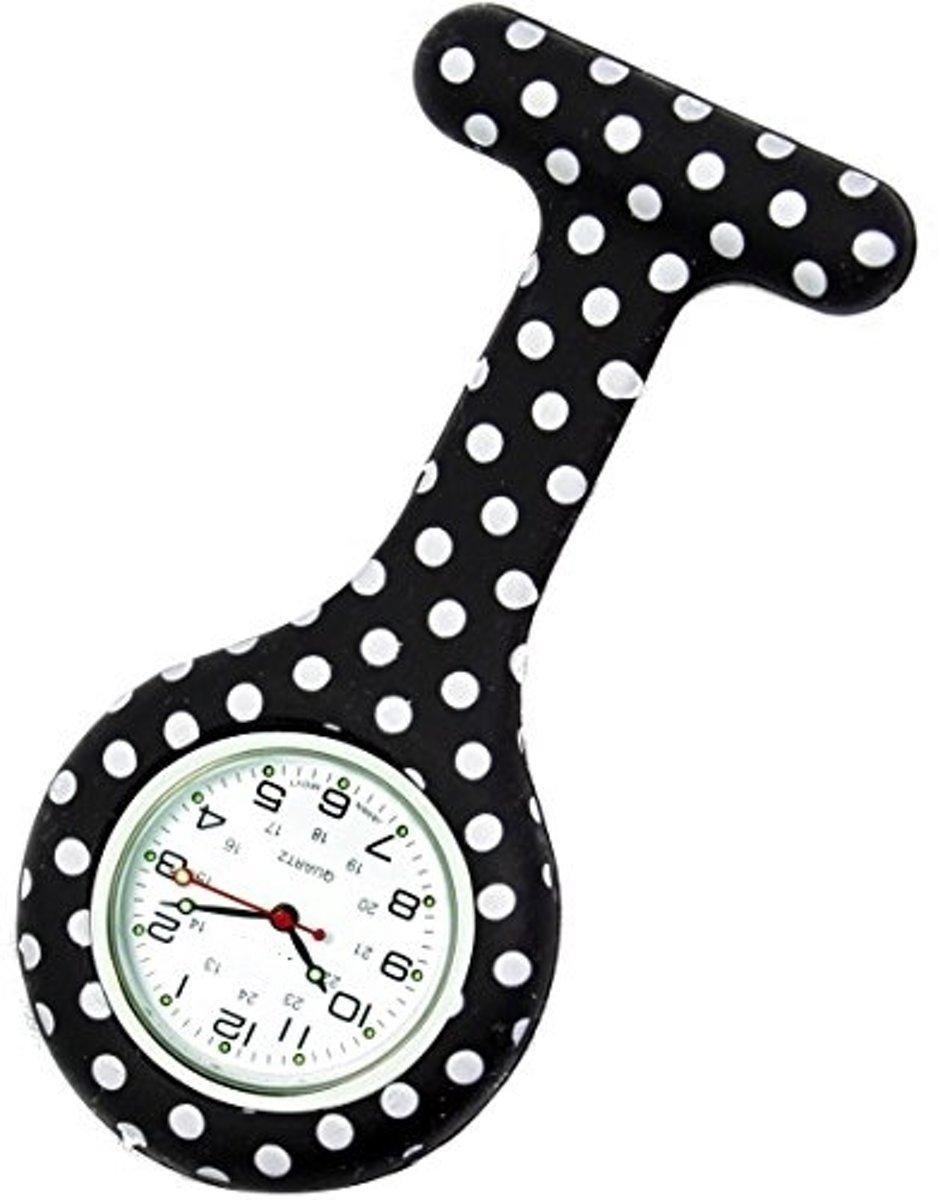 Verpleegster Horloge jelly- STIPPEN ZWART kopen
