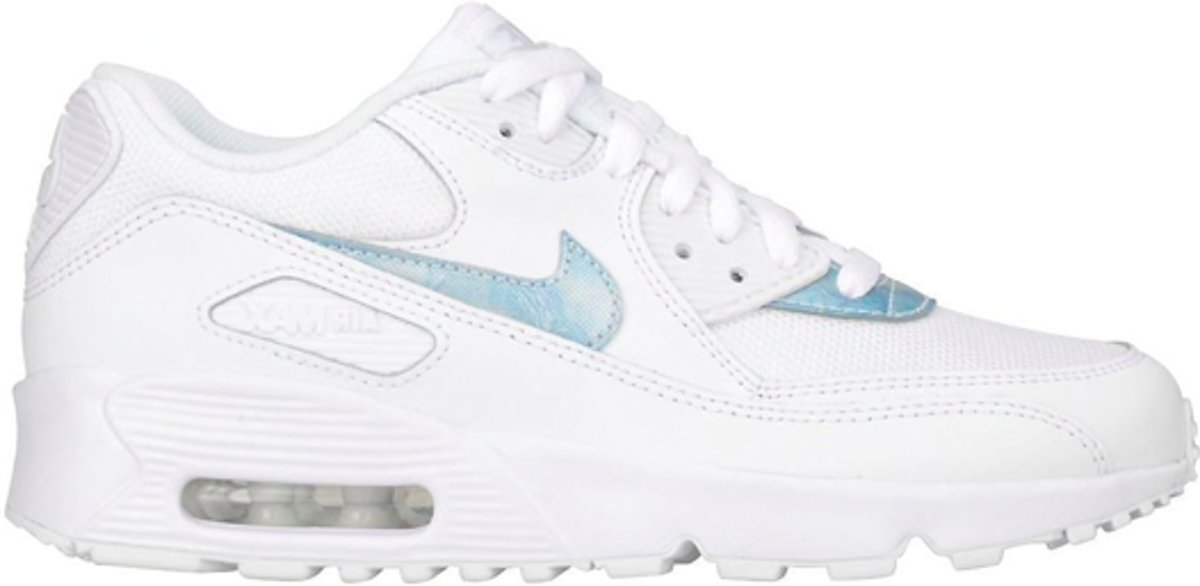 nike air max 90 mesh gs schoenen wit