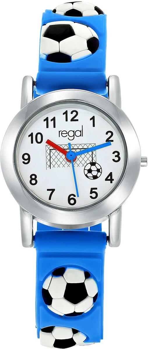 Regal RG93750-123 giftset voetbal - Horloge - Siliconen - Blauw - 27 mm kopen