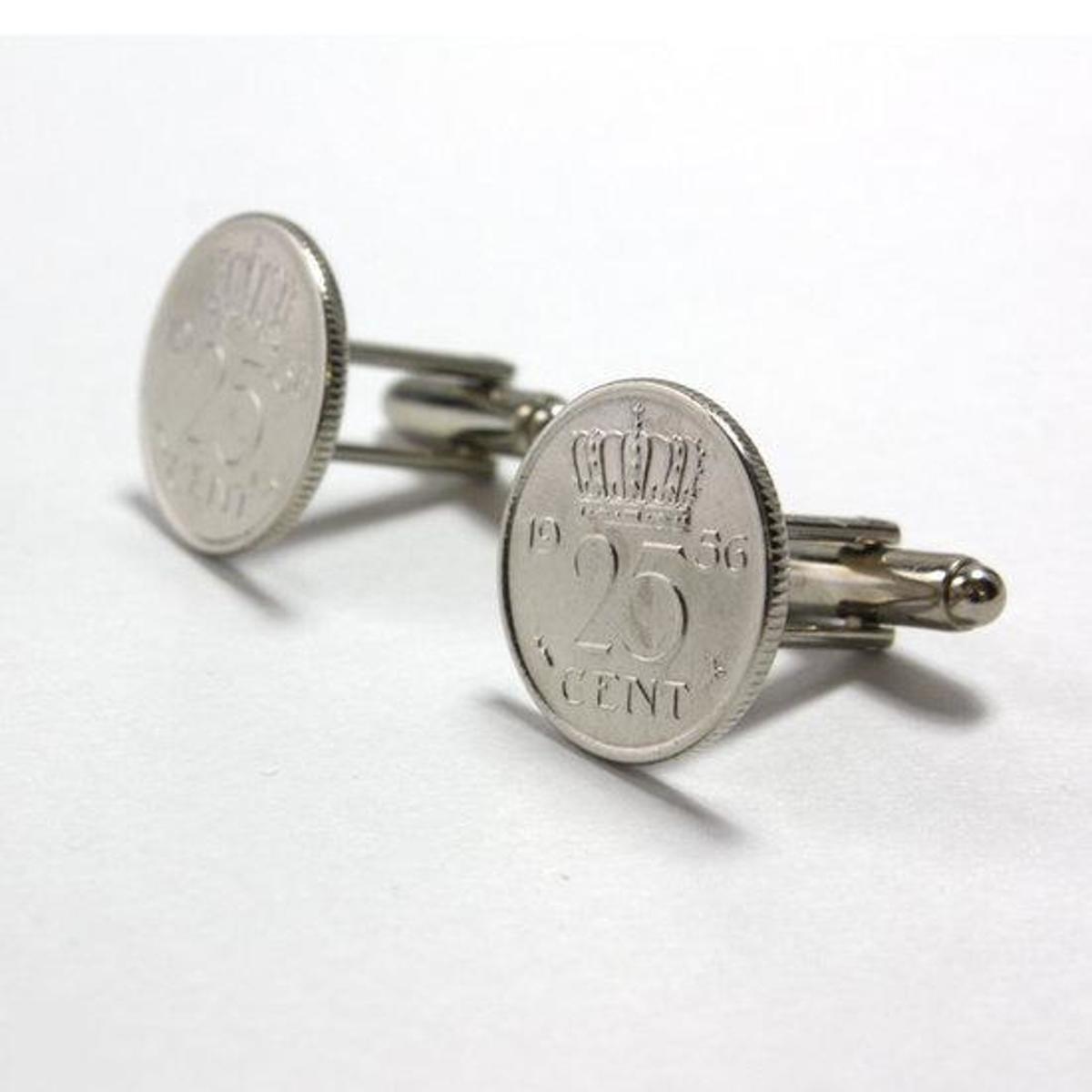 Custom Cufflinks Manchetknopen - Munt - 25 cent 1956 kopen