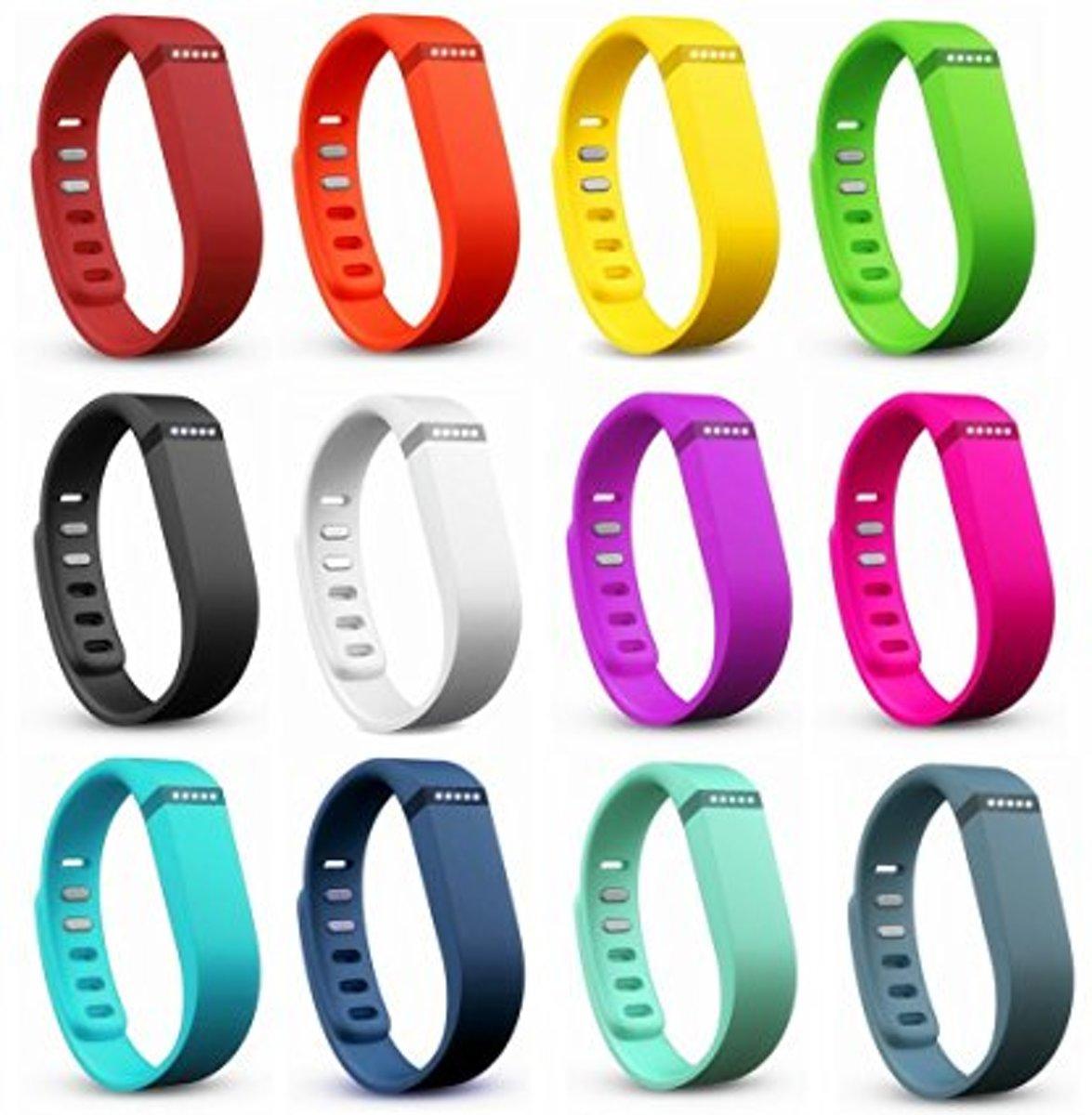 12 Stuks Super SALE TPU armband voor Fitbit Flex - Maat S kopen
