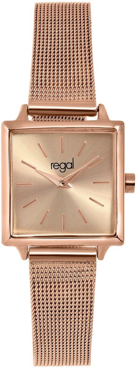 Regal - Regal horloge met een rosekleurige kast en band kopen
