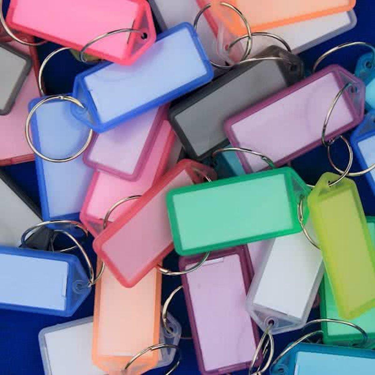 Openklapbare sleutellabels Sleutellabel kleurassorti - 16 stuks kopen