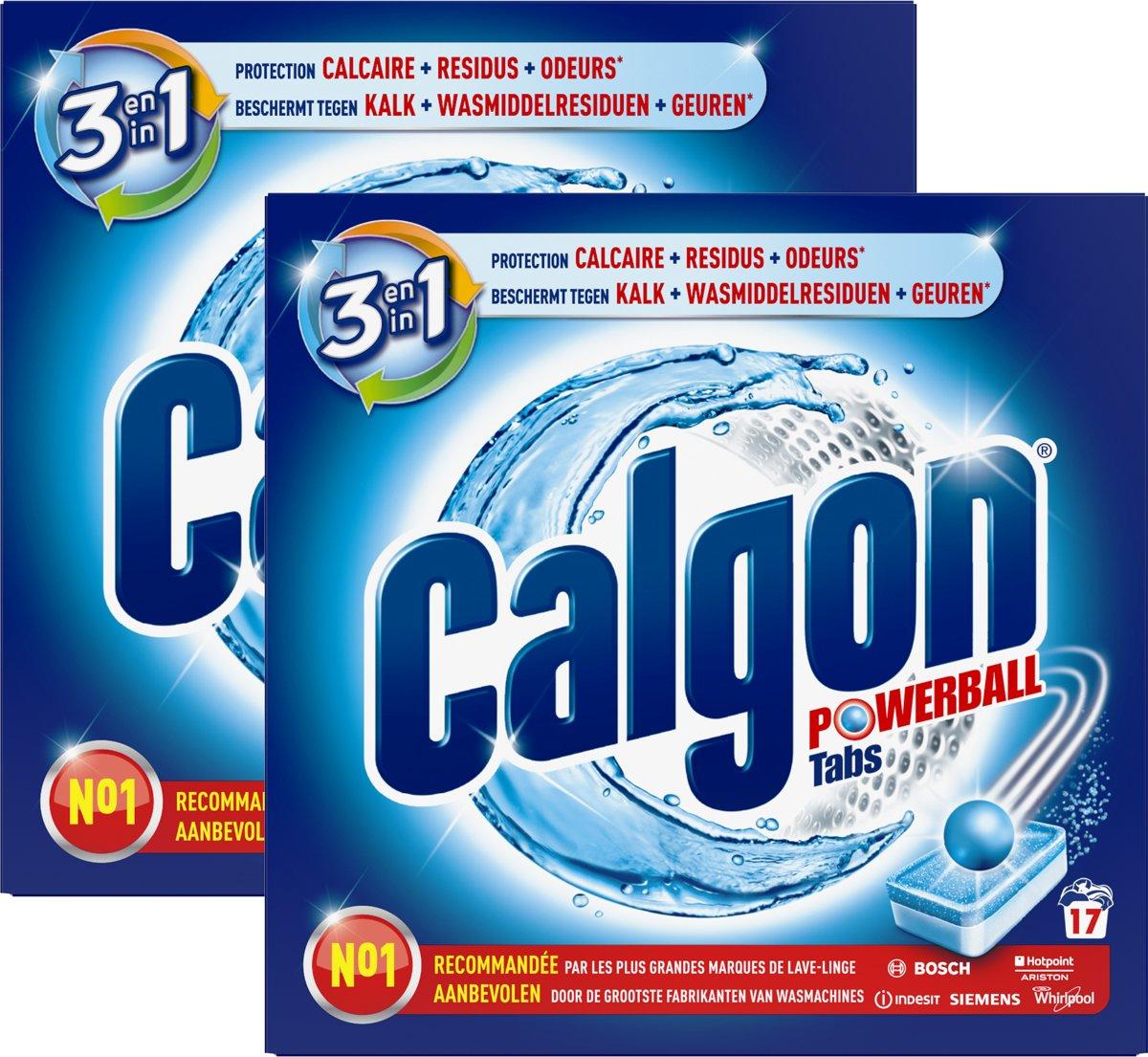 Calgon Ontkalkingstabletten voor Wasmachines - 2 x 17 tabletten - Grootverpakking kopen