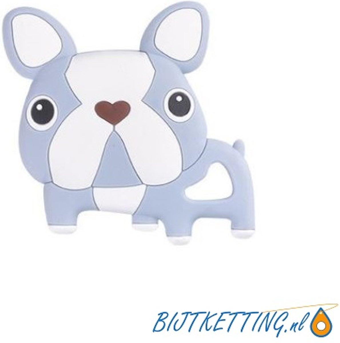 Bijtketting hond | Cartoon Bulldog | Blauw & Wit kopen