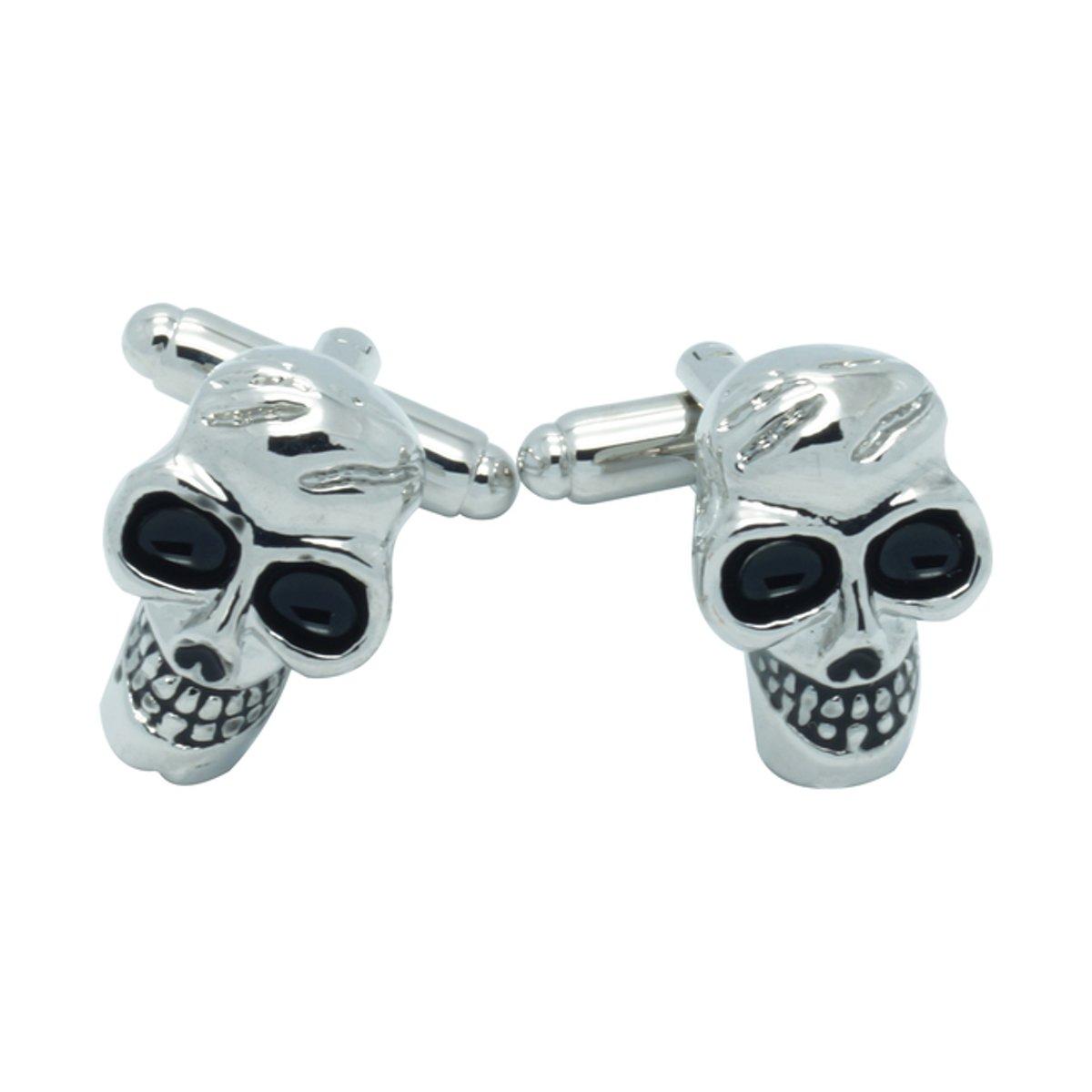 Schedel Manchetknopen Halloween Zilver kopen