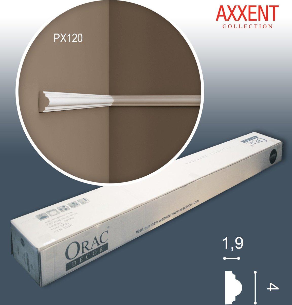 1 doos 28 Wandlijsten Origineel Orac Decor PX120 AXXENT Plafondlijsten Sierlijsten Lijstwerk 56 m kopen