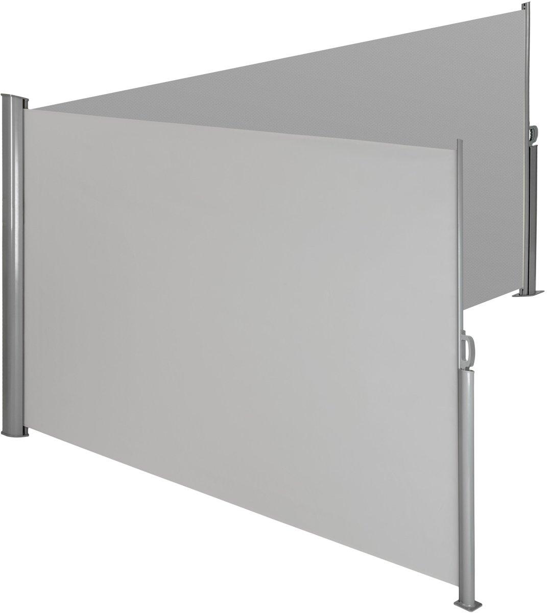 TecTake - aluminium windscherm - dubbel - 160 x 600 cm - grijs - 402331 kopen