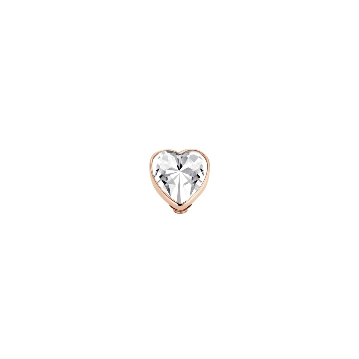 Melano Twisted Valentine heart zetting - rosekleurig - crystal - dames - 7 mm kopen
