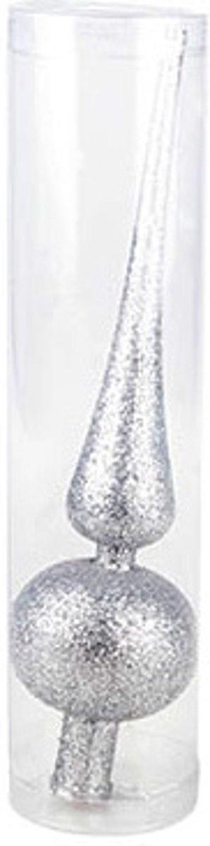 Kerstboom piek 24 cm (zilver) kopen