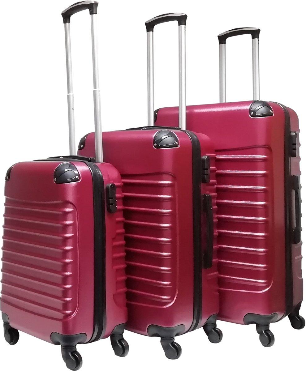Castillo Trimix- 3 delige ABS kofferset – bordeaux rood kopen