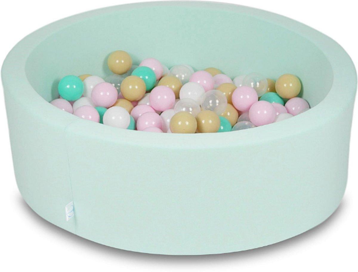 Ballenbak - 200 ballen - 90 x 30 cm - ballenbad - rond mint groen