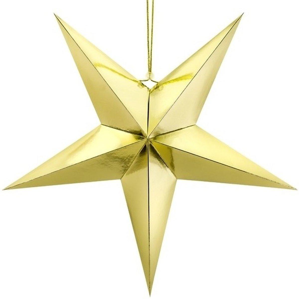 Gouden ster 45 cm Kerst decoratie/versiering kopen