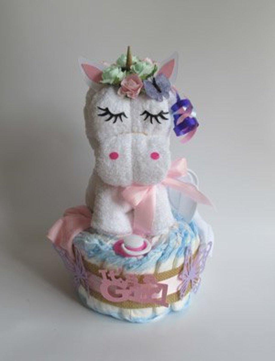 Luiertaart Unicorn | Kraamcadeau | Kraampakket | Baby Cadeau