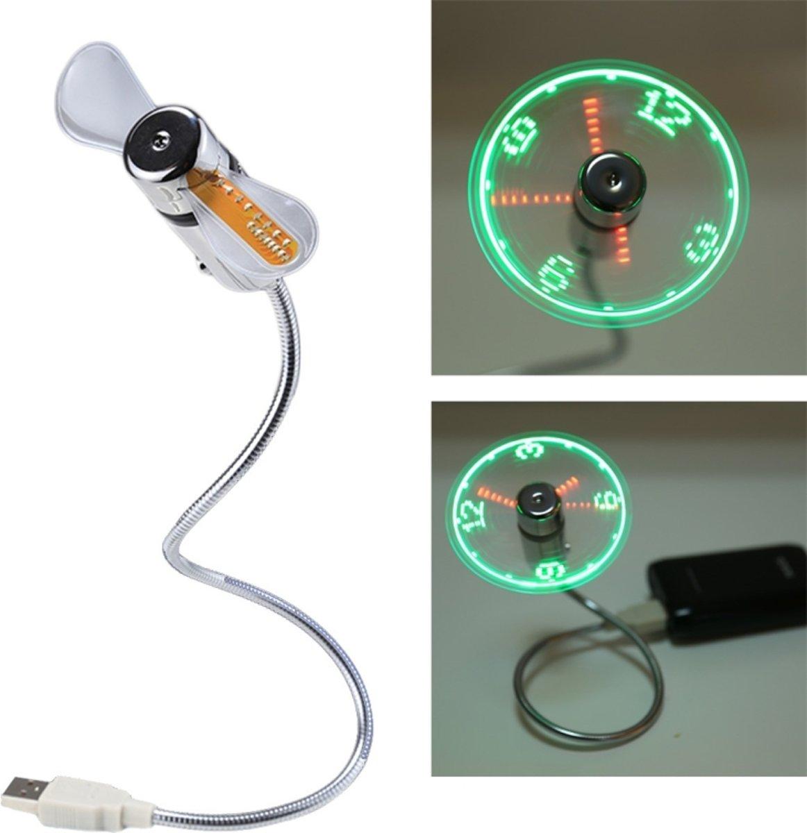 Mini USB duurzaam-klok tijd Display flexibele LED licht ventilator  DC 5V kopen