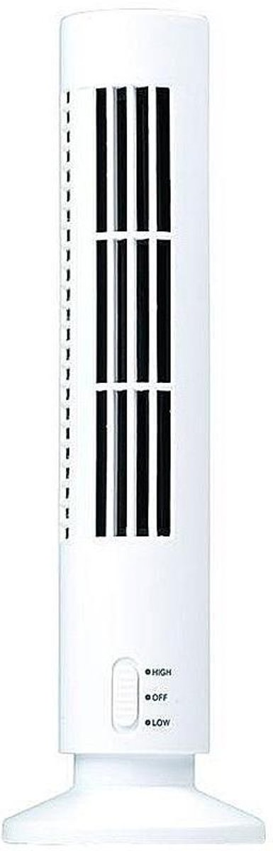 Torenventilator - USB - ventilator - Wit - Tafelventilator - 33 x 6 cm kopen