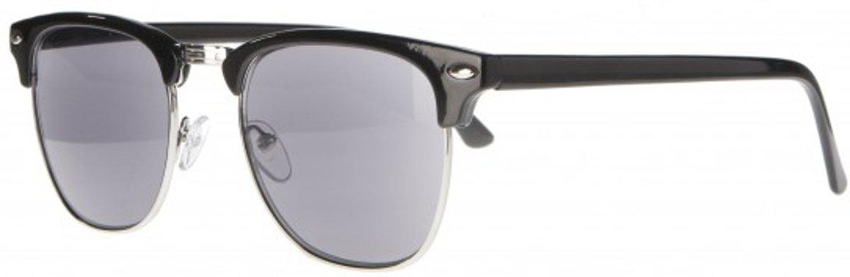 Icon Eyewear NBB211 Clubmaster Zonneleesbril +2.50 - Glanzend zwart - UV400 kopen