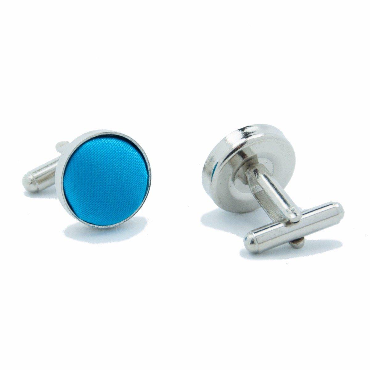 Manchetknopen stof metaal blauw kopen