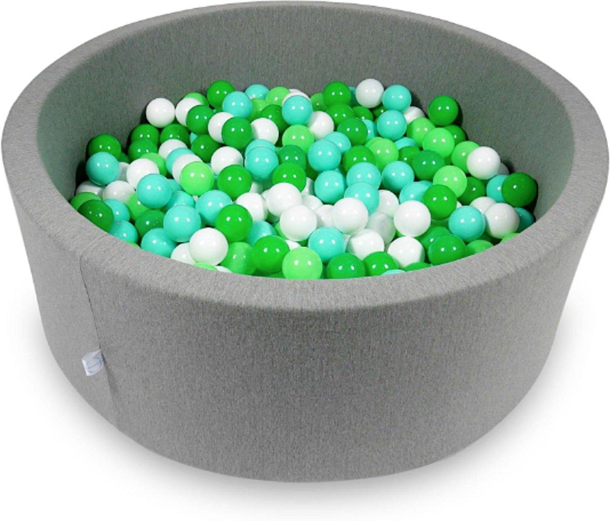Ballenbak - 500 ballen - 115 x 40 cm - ballenbad - rond grijs