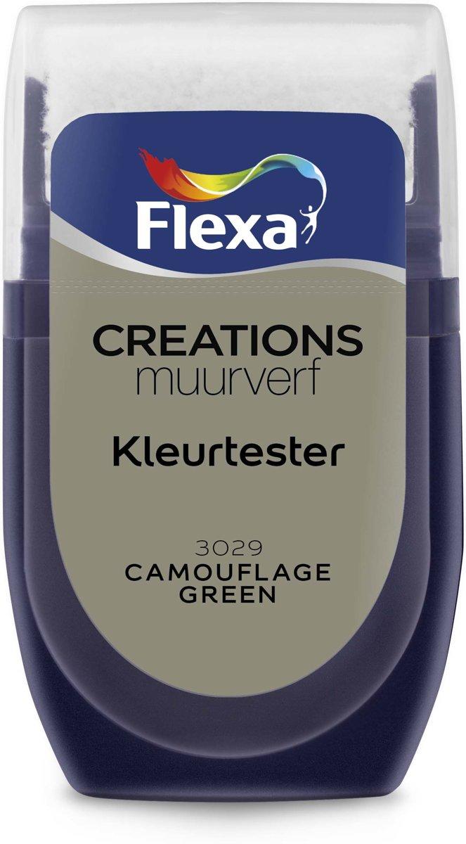 Flexa Creations - Muurverf Tester - Camouflage Green - 30 ml kopen