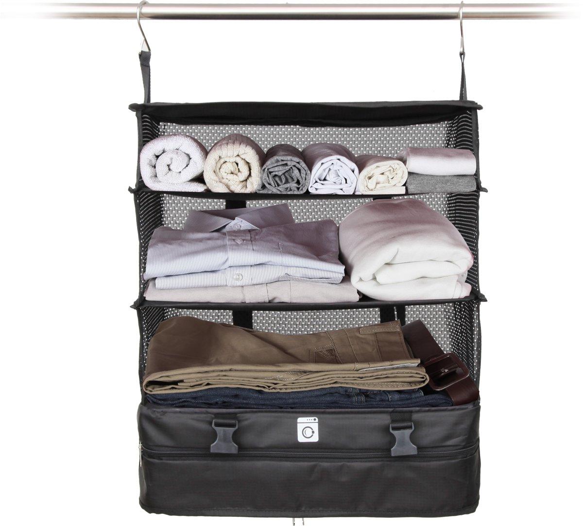 TravelZ - Koffer organiser - Packingcube orginaser - Kleding orginaser - Inpakbare kast - Opvouwbaar - Bespaar 30% ruimte - Uniek Reisaccessoire kopen