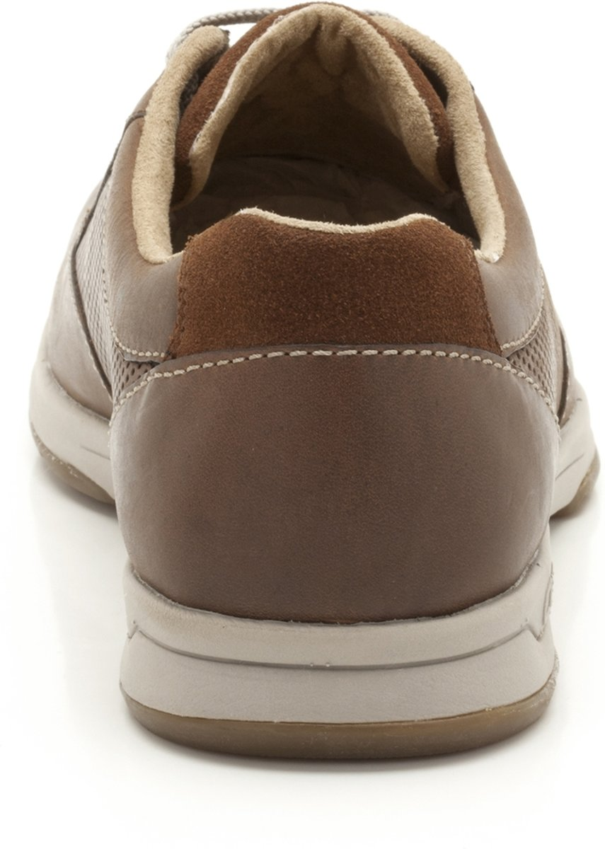 - Stafford Clarks Park 5 - - Hommes Occasionnels Lacets - Taille 46 - Cognac - Cuir Beige 4I7iOFc