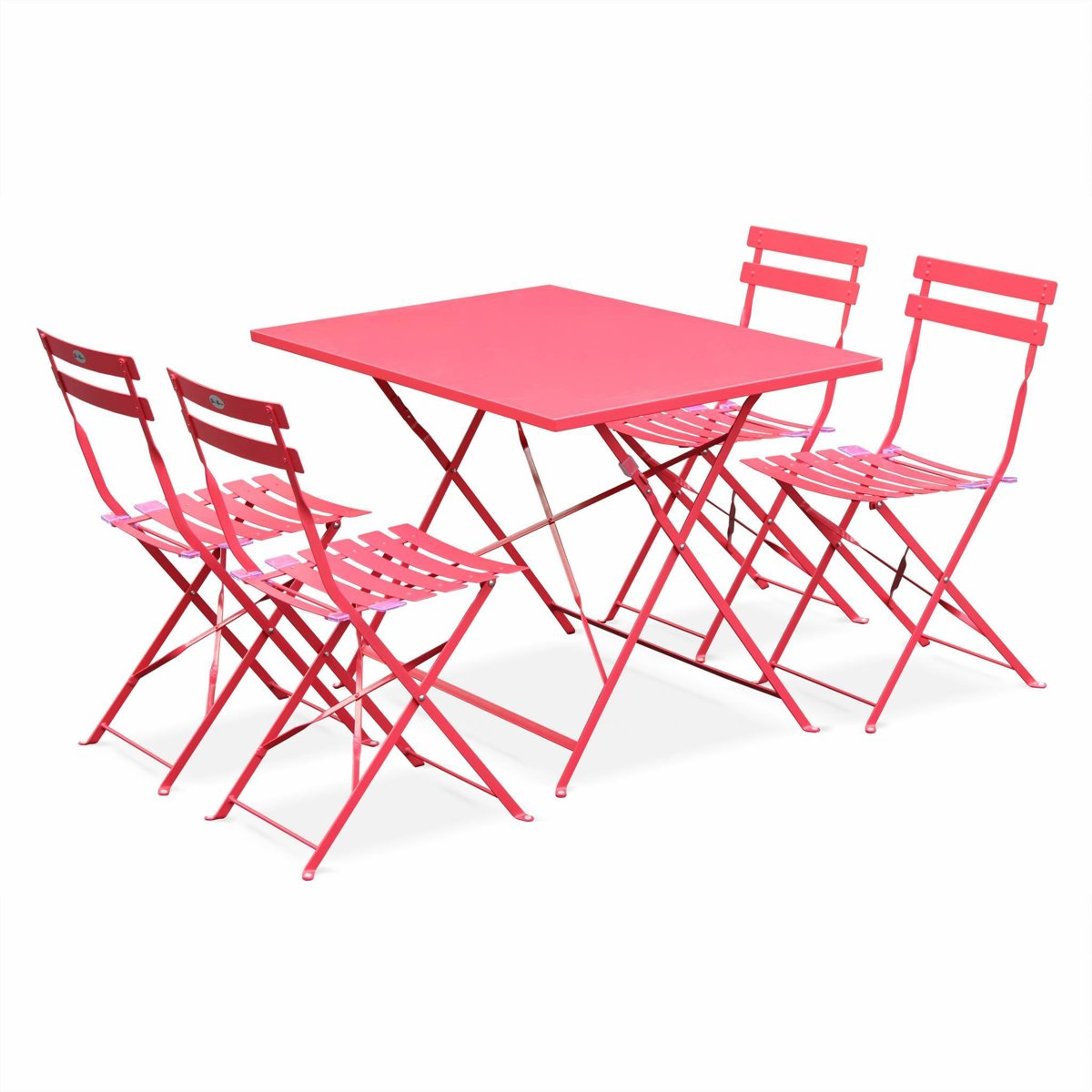 Bistro tuin set, rechthoekige tafel en 4 vouwbare stoelen kopen