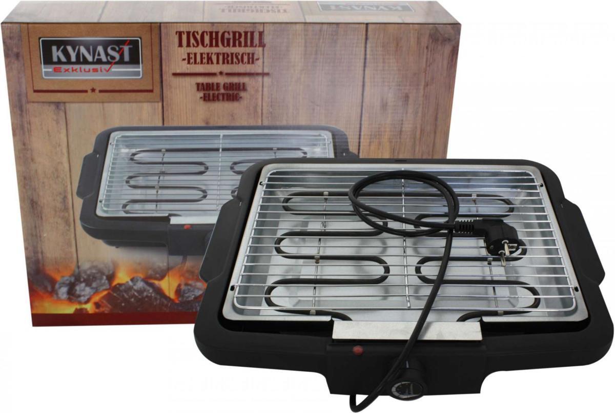 Kynast Elektrische Barbecue - Tafel Grillplaat - 2000 Watt - Zwart