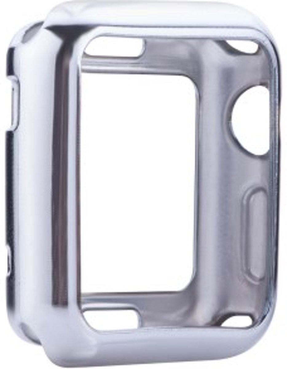 Electroplating Soft TPU Shell Case voor Apple Watch Series 1 / 2 / 3 (42mm) - Zilver kopen